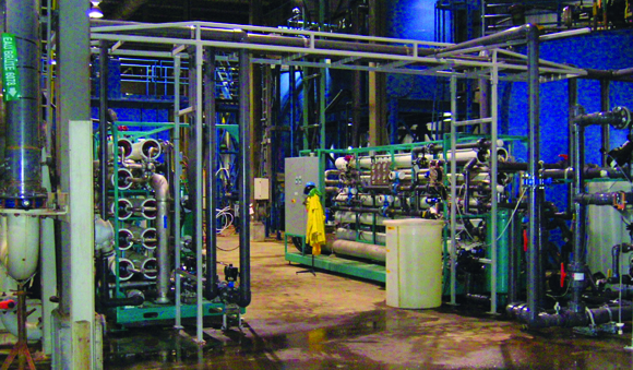 Industries - Mining facility membrane water filtration system