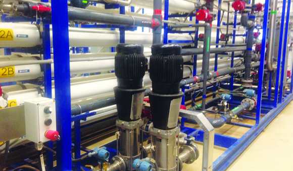 Industries - Oil gas membrane water treatment system
