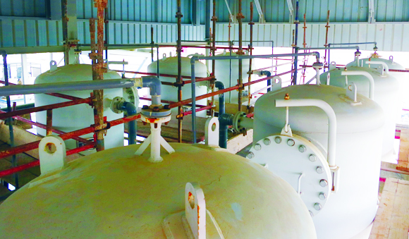 Industries - Greensand filters oil gas water treatment system
