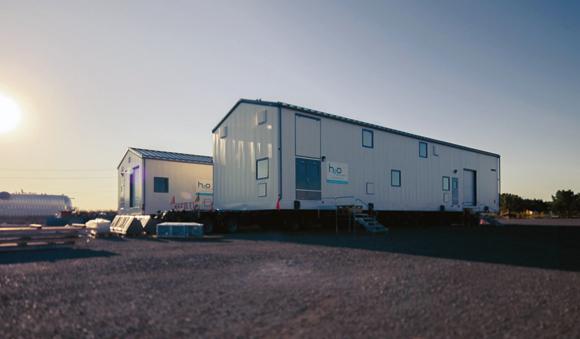 Industries - Workers camp sunrise Fiberflex water treatment system