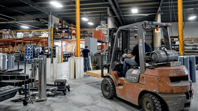 Expertise - Manufacturing capabilities Ham Nord factory warehouse